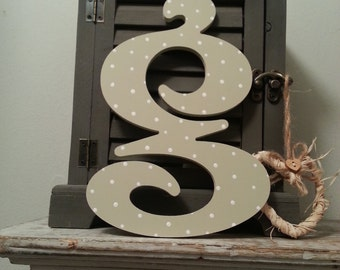 Handpainted Wooden Wall Letter - 'g' - Victorian - small lowercase