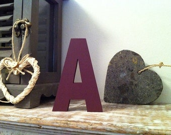 Wooden Letter A - 30cm x 18mm, Freestanding - Ariel Font - Various sizes, finishes and colours