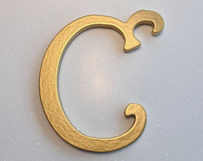 Wooden Letter 'C' -  15cm x 9mm - Princess Font - various finishes, non-standing
