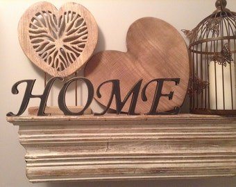 Free-standing wooden Letters, HOME - Photo Props - 15cm - set of 4