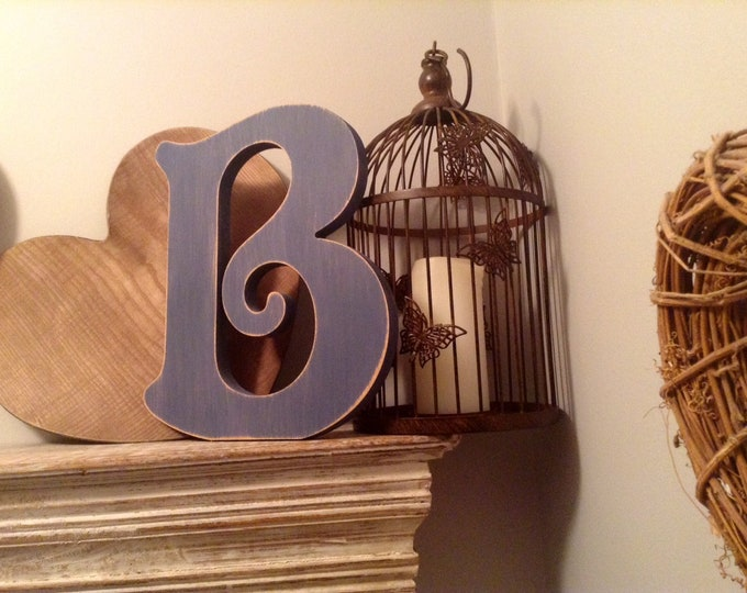 Wooden Letter 'B' -  30cm x 18mm - Victorian Font - various finishes, standing