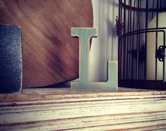 Wooden Letter 'L' - 25cm - Rockwell Font - various finishes, standing
