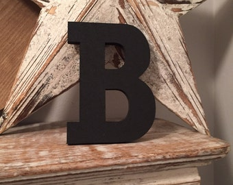 Hand-painted Wooden Letter B, Wall Letter, 9mm thick - Rockwell Font - Various sizes, finishes and colours