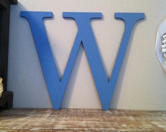 Wooden Letter 'W' -  30cm - Georgian Font - various finishes, standing