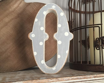 Painted Wooden Letter - Large Letter O,  Circus Font, 40cm high, 16 inch, any colour, wall letter, wall decor, 18mm