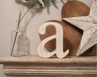 Wooden Letter 'a' -  14cm x 25mm - Georgian Font - various finishes, standing
