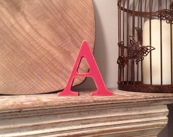 Wooden Letter 'A' -  20cm x 18mm - Georgian Font - various finishes, standing