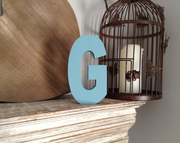 Wooden Letter G - 15cm, Freestanding - Ariel Font - Various sizes, finishes and colours