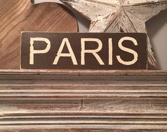 PARIS - Wooden Sign