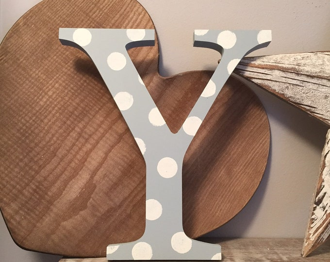 Wooden Letter 'Y' -  20cm x 18mm - Georgian Font - various finishes, standing