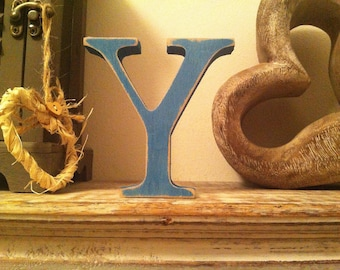Wooden Letter 'Y' - 15cm - Georgian Font - various finishes, standing