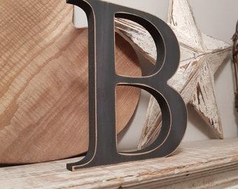 Wooden Letter 'B' - 30cm - Georgian Font - various finishes, standing