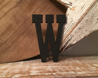 Hand-painted Wooden Letter W, Wall Letter, 9mm thick - Rockwell Font - Various sizes, finishes and colours