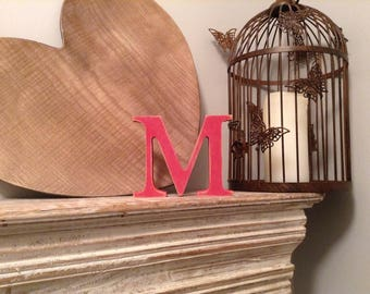 Giant Wooden Letter - M - Times Roman Font, 50cm high, 20 inch, any colour, wall letter, wall decor - various colours & finishes