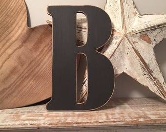 Wooden Wall Letter 'B'  - Bernard Style Font, various sizes, colours and finishes available, initial, monogram, 9mm thick