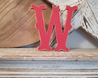Painted Wooden Letter - Large Letter W, Circus Font, 30cm, any colour, wall letter, wall decor, 18mm