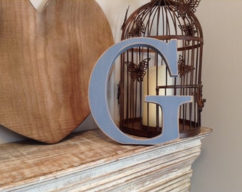 Wooden Letter G - 20cm x 18mm, Freestanding - Georgian Font - Various sizes, finishes and colours