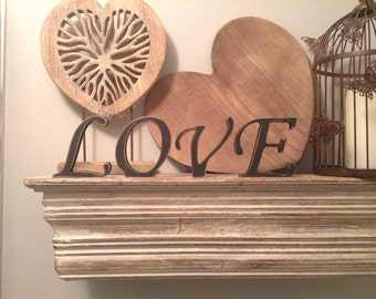 Free-standing wooden Letters, LOVE - Photo Props - 15cm - set of 4