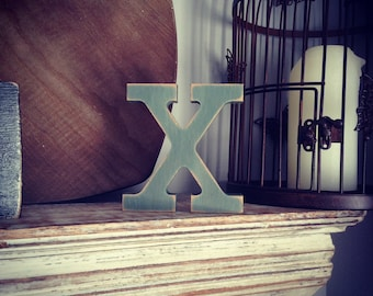 Wooden Letter 'X'- 25cm - Rockwell Font - various finishes, standing