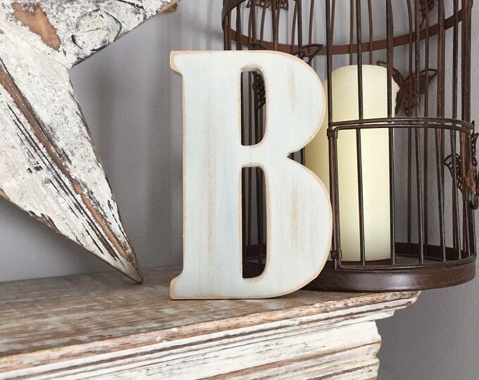Wooden Letter 'B' -  30cm x 9mm - Bernard Font - various finishes