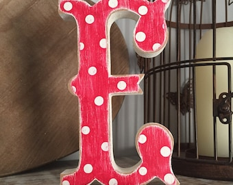 Painted Wooden Letter - Large Letter E,  Circus Font, 40cm high, 16 inch, any colour, wall letter, wall decor, 18mm
