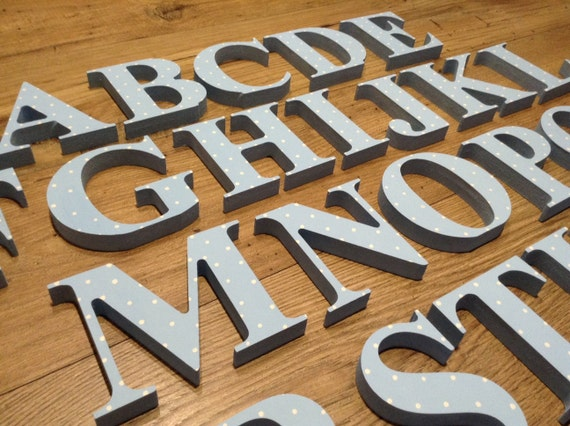 Complet En Bois Alphabet Main Peinte En Bois Lettres Set 26