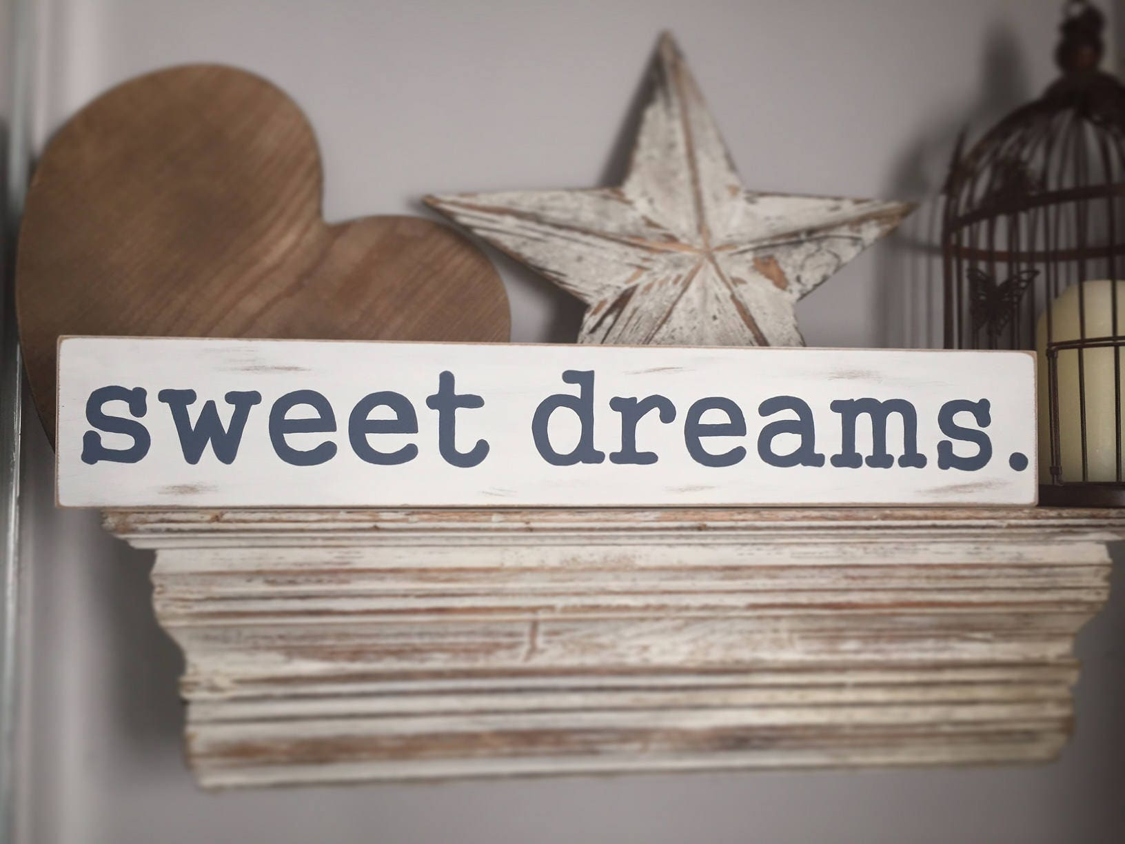 Wooden Sign Sweet Dreams 60cm