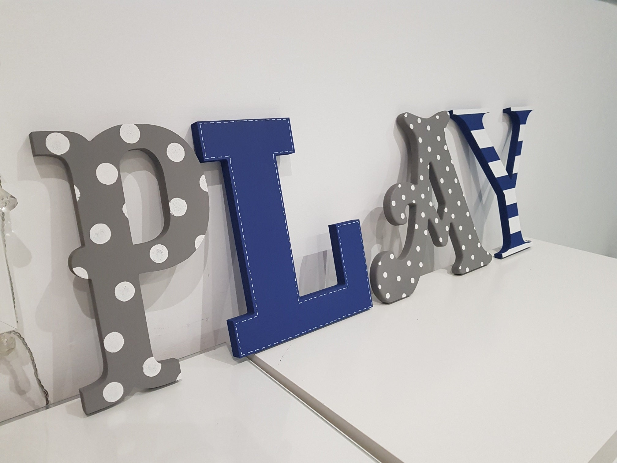 Wooden Letters PLAY, Play Room Decor, Kid's Room
