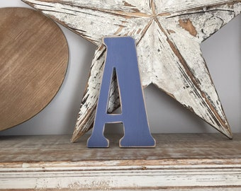 Wooden Letter A – Personalised Name Letter – Nursery Decoration Ideas – Rustic Room Décor – Bernard Style A – Decorative Wooden Sign