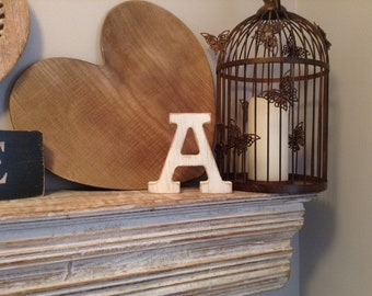 Wooden Letter A – Personalised Name Letter – Nursery Decoration Ideas – Rustic Room Décor – Rockwell Style A – Decorative Wooden Sign