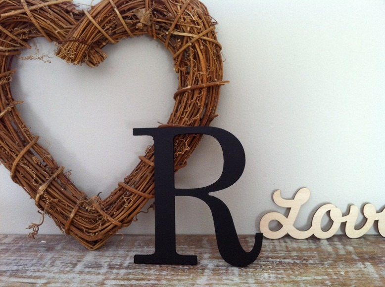 Painted Wooden Letter R Any Colour Roman Style 18 Wall