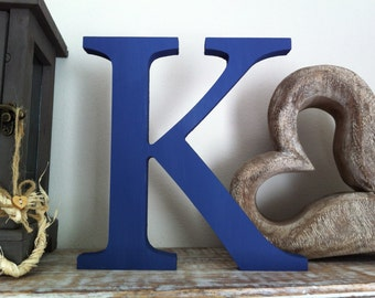 Wooden Letter K , 20cm x 18mm - Freestanding - Georgian Font - Various sizes, finishes and colours,
