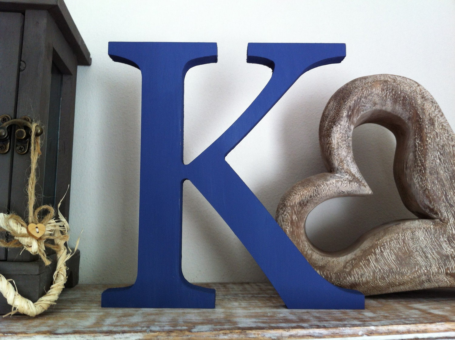 freestanding wooden letter k 25cm georgian style wedding letters