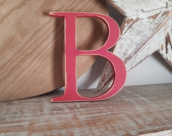 Wooden Letter B – Personalized Name Letter – Nursery Decoration Ideas – Rustic Room Décor – Georgian Style B – Decorative Wooden Sign
