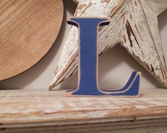 Wooden Letter L  - Freestanding - Georgia Font - 20cm