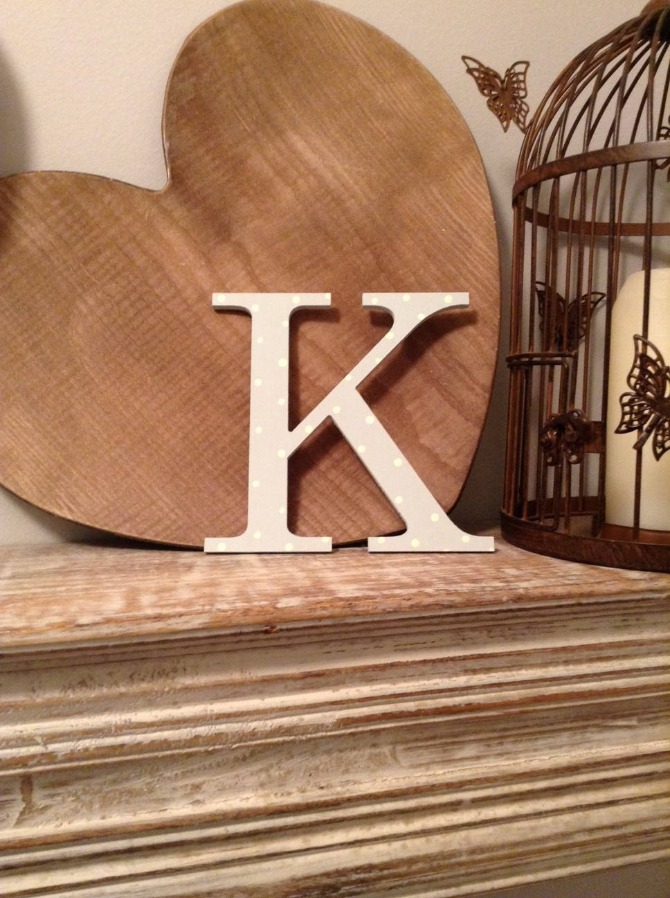 Giant Wooden Letter K Times Roman Font 50cm High 20 Inch Any