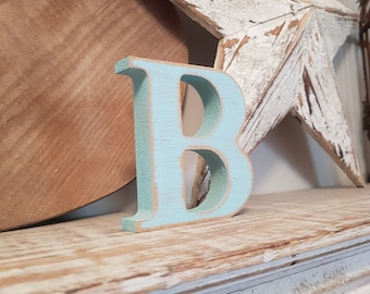 Wooden Letter B – Personalised Name Letter – Nursery Decoration Ideas – Rustic Room Décor – Georgian Bold Style B – Decorative Wooden Sign