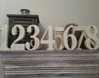 Wedding Table Numbers 1-10 - Standing - Set of 11 - 15cm high - Georgia