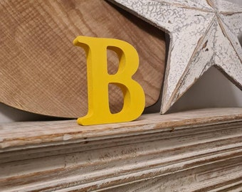 Wooden Letter B – Personalised Name Letter – Nursery Decoration Ideas – Rustic Room Décor –  Cherokee Style B – Decorative Wooden Sign