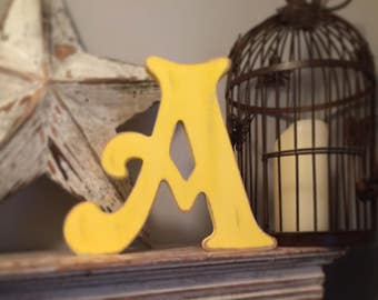 Hand-painted Wooden Letter A - Freestanding - Victorian Font - Various sizes, finishes and colours