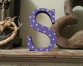 Freestanding Wooden Letter 'S'  - 15cm - Georgia Style Font