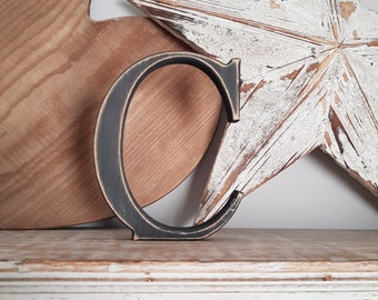 Wooden Letter C - 25cm, Freestanding - Georgian Font - Various sizes, finishes and colours