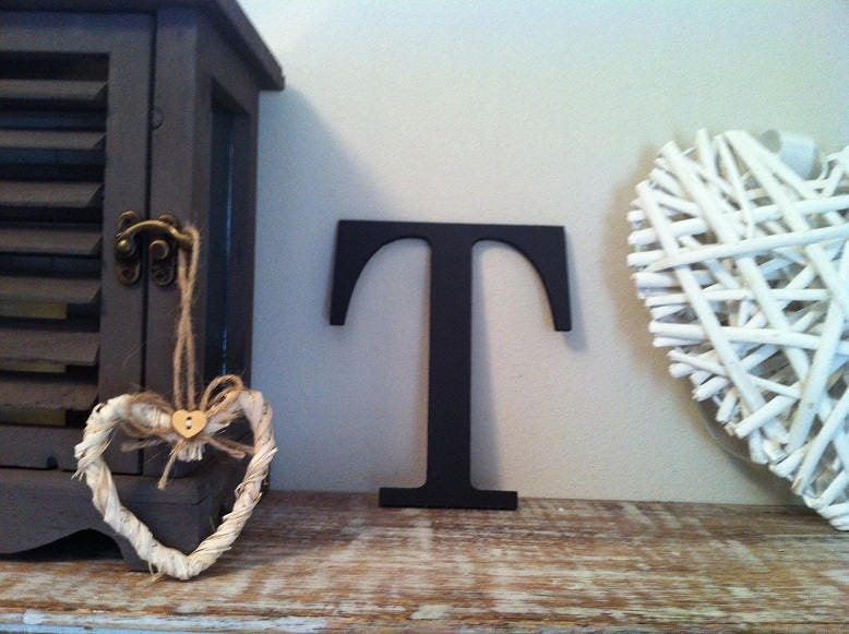 Giant Wooden Letter - T - Times Roman Font, 50cm high, 20 inch, any ...