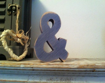 Hand-painted Wooden Letter, &, ampersand - Freestanding - Ariel Font - Various sizes, finishes and colours - 20cm