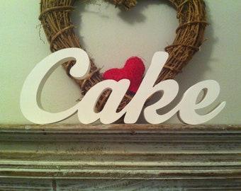 10cm Handpainted Freestanding Wedding Letters - Cake - New Script