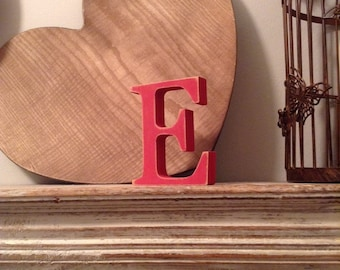 Hand-painted Wooden Letter, E - Freestanding - Georgia Font - Various sizes, finishes and colours - 30cm
