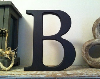 Wooden Letter B - 25cm, Freestanding - Georgian Font - Various sizes, finishes and colours