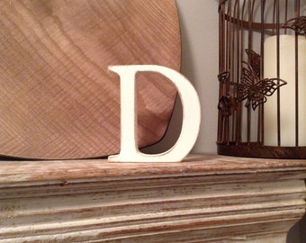 Wooden Letter D - 25cm, Freestanding - Georgian Font - Various sizes, finishes and colours