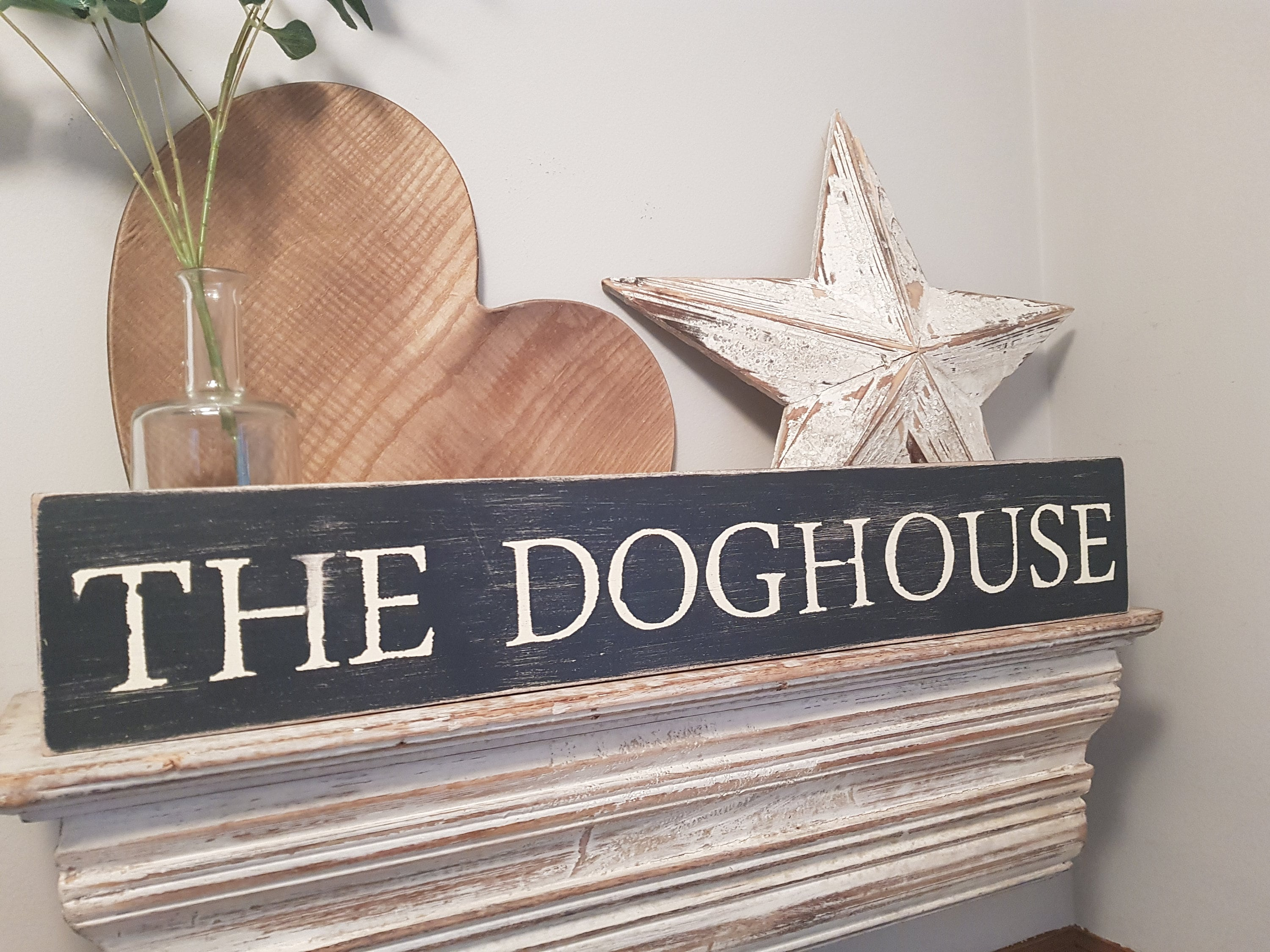 Large Wooden Sign The Dog House 60cm