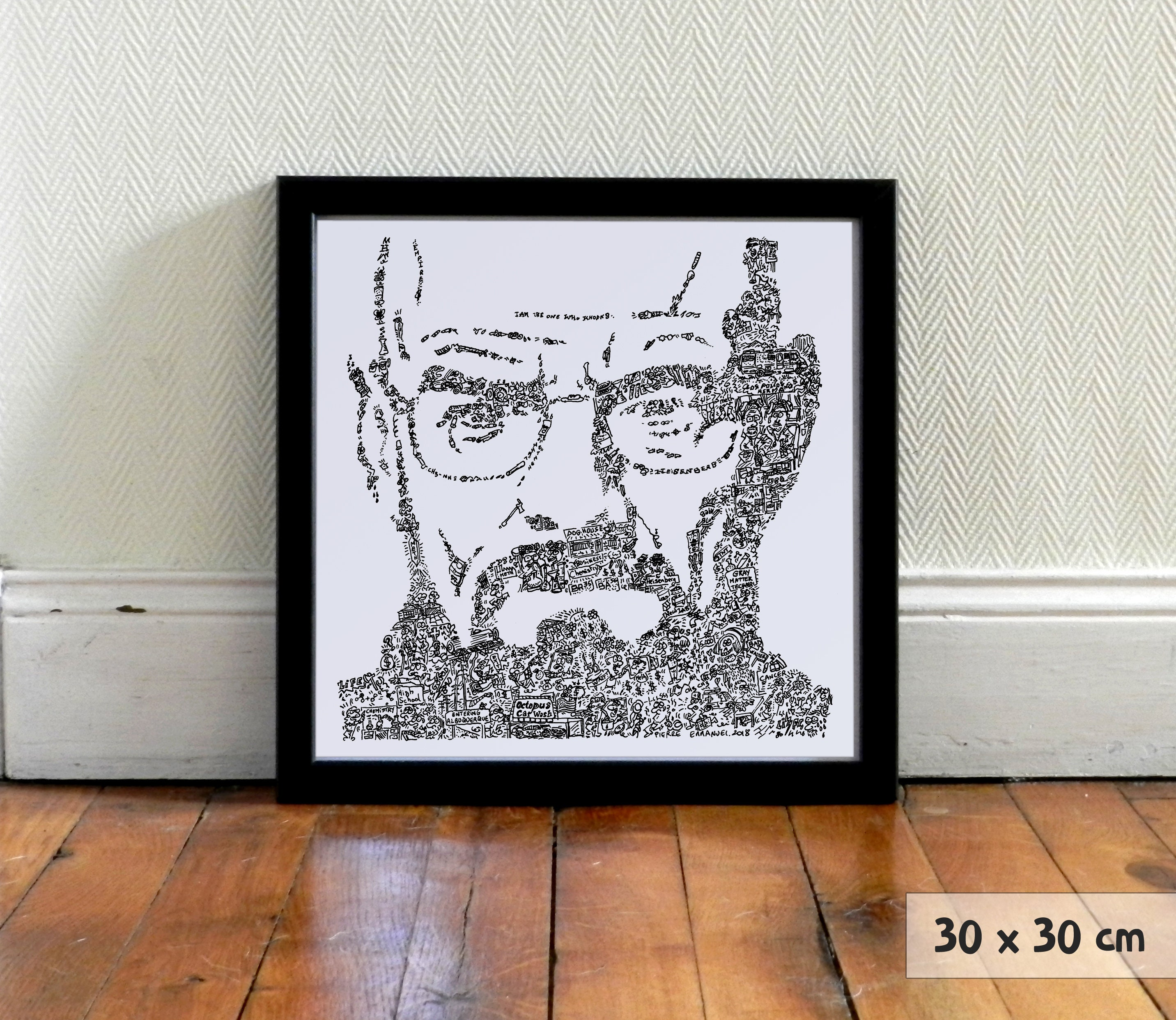 Poster A4 A3 BRYAN CRANSTON Breaking Bad Walter White INSPIRED WALL ART Print